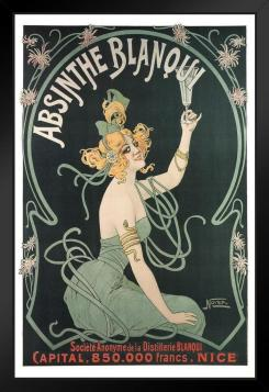 Vitage advertisement for Absinthe Blanqui