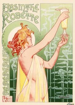 1896 - Privat Livemonts pubblicità per Absinthe Robette